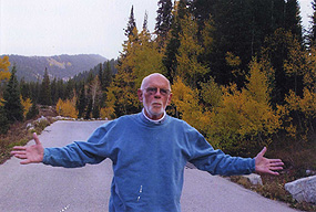 Bill Seifrit hiking Fall 2007