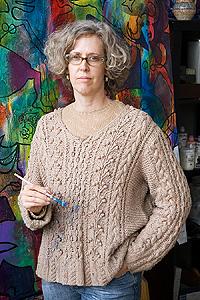 Willamarie Huelskamp in her studio