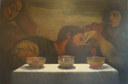 Titian with bowls by Ron Richmond