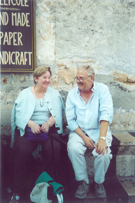 Tom Mulder with Susan Burgess in Orvieto, Italy