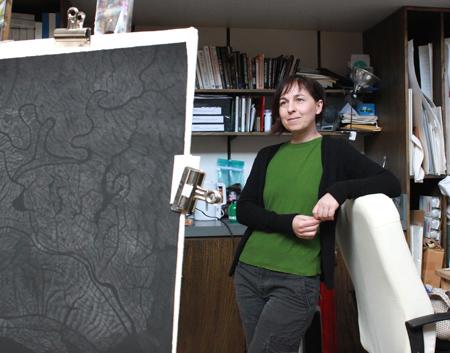 Alison Denyer in her studio