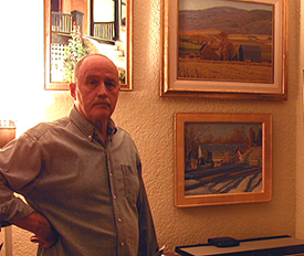 Bevan Chipman in his home