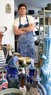 behunin in his studio
